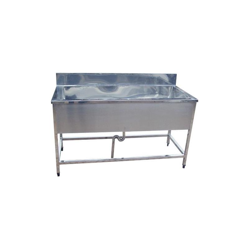 厨之选 XP-175 不锈钢双槽洗碗洗菜池带中平台 1750*800*600mm