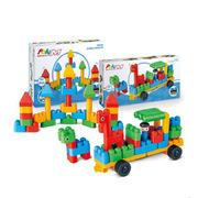 Hape  积木动物园管理车套+小小建筑师套 2厘米 彩色