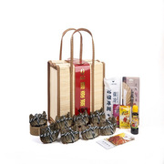 东沃  尊品蟹宴礼盒 公蟹:4.4-4.6两*4只 母蟹:3.2-3.4两*4只