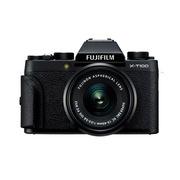 富士 X-T100/XT100 XC15-45 微单照相机    含16g存储卡+防雨相机包+UV镜钢化膜+遥控快门线镜头盖+防丢绳+多合一读卡器+清洁套装