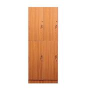 理邦 木紋色MFC板內附層板及掛衣桿帶普通鎖 4門浴室柜 900*420*2000H 木紋色