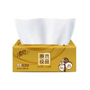 清风  抽纸纸巾 金装原木3层130抽   /婴儿适用卫生纸餐巾纸抽