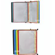 金隆兴 B1048 A4挂壁式翻页文件架 PVC+金属,彩色10页 白色