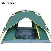 三极 TP2318 旋压式全自动速开帐篷  军绿色
