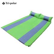 三極 TP1123 戶外雙人拼色氣墊 綠色