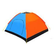 三極 TP2119 新款拼色帳篷 桔藍色