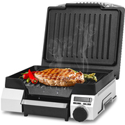 灿坤 2614 烤牛排机不锈钢 家用烤肉炉煎烤机  金属银色