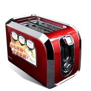 灿坤 2588 不锈钢多士炉家用全自动早餐跳式烤面包机吐司  红色