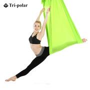 三极 TP1316 空中瑜伽吊床 5*2.8m 草绿色  悬挂式弹带配件