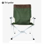 三極 TP8856 釣魚沙灘休閑折疊椅 大號59*56*91cm 深綠色