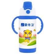 嬰侍衛 F721-B 安全鎖扣兒童保溫水壺(藍色手把) 350ML 隨機色