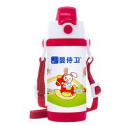 婴侍卫 F722-A 安全锁扣儿童保温水壶(红色背带) 350ML 随机色