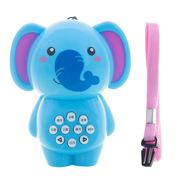 婴侍卫 MY9826 儿童早教故事机 7*9cm 蓝色  可爱卡通动物造型大象款 迷你手电故事机均码
