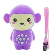 婴侍卫 MY9827 儿童早教故事 7.5*9cm 紫色  机可爱卡通动物造型猴子款 迷你手电故事机均码