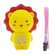 婴侍卫 MY9828 儿童早教故事机 8*10cm 黄色  可爱卡通动物造型狮子款 迷你手电故事机均码
