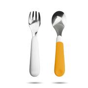 卓理 FAS01-OR 婴幼儿不锈钢叉勺组  橙色