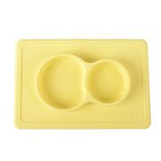 卓理 PM01-YE 一体式硅胶餐垫盘  黄色