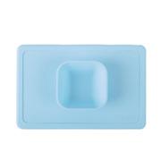 卓理 MB01-BL 一体式硅胶餐垫碗  蓝色