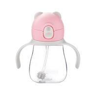 卓理 BEC01-PK 小熊防噴吸管杯300ml  粉色