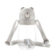 卓理 BEC02-GY 小熊防噴吸管杯450ml  灰色