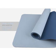 三极 TP1506 无味瑜伽垫健身垫双层 183*65cm*6mm 青灰色