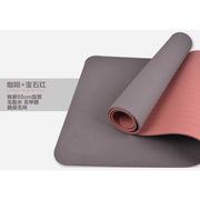 三极 TP1506 无味瑜伽垫健身垫双层 183*65cm*6mm 咖啡色