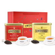 川宁  组合礼盒送新年礼袋 200g+200g   英国早餐茶200g+豪门伯爵红茶200g