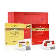 川宁  经典英式红茶组合礼盒 100片+100片   红茶豪门伯爵100片+英式早餐100片送新年礼袋