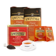 川寧  組合禮盒 500g+25片*2   英國早餐茶500g+錫蘭大葉紅茶25片*2