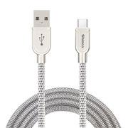 新科 GT09 金剛金屬數據線(TYPE-C) 1M 金屬銀色