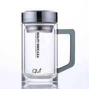 qut SH375L-350-SL 美國庫特雙層水晶玻璃杯 350ml 黑色