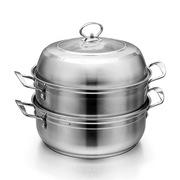 普鲁斯 SUBPL096 26CM全钢汤蒸多用锅 26CM 不锈钢色