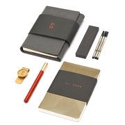 清朴堂 笔+笔芯+记事本+内芯+书扣 如时   套装