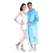 三極 TP1901 戶外便攜雨披半透明雨衣演唱會旅游雨衣風衣式雨披雨衣 12件裝