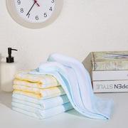 金号 HY1983 纱柔A类/婴幼儿标准系列-10三条纱布毛巾选袋装 70*34cm 黄色
