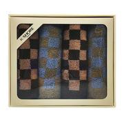 金号 HY1168 格拉斯哥/系列-19 四条毛巾选袋装 76*34cm 随机色