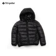 三極 TP5368 兒童輕薄羽絨服男童女童超輕款外套寶寶棉襖小孩冬裝嬰兒童裝 120 黑色