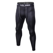 三极 TP8017 户外运动健身跑步紧身速干弹力紧身长裤 M 黑色