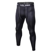 三极 TP8017 户外运动健身跑步紧身速干弹力紧身长裤 XL 黑色