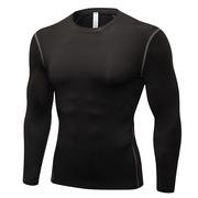 三極 TP8016 戶外運動健身跑步排汗速干衣長袖衫T恤 L 黑色