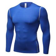 三極 TP8016 戶外運動健身跑步排汗速干衣長袖衫T恤 XXXL 藍色