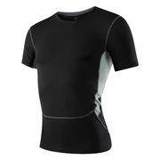 三極 TP8011 戶外男士緊身運動健身跑步速干短袖衫T恤 L 黑色