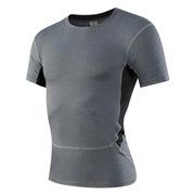 三極 TP8011 戶外男士緊身運動健身跑步速干短袖衫T恤 S 灰色