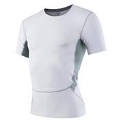 三极 TP8011 户外男士紧身运动健身跑步速干短袖衫T恤 M 白色