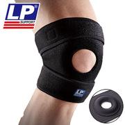 LP 788KM_XL 多孔单片运动用可调式护膝  黑色