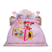 迪士尼 MM-2002 儿童全棉40支13372数码印花四件套 200*230cm 1.5米、1.8米 粉红色  适合1.5米和1.8米床用(粉色)