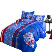 迪士尼 MM-2006 儿童40支贡缎四件套 200*230cm 1.5米、1.8米 蓝色  适合1.5米和1.8米床用(蓝色)