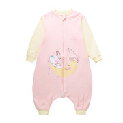 貝彤 BT110236 針織棉分腿睡袋(月亮小熊單層款) 36*80cm 粉色