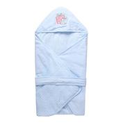 貝彤 BT102179 針織棉抱被小象氣球標準款 80*80cm 藍色