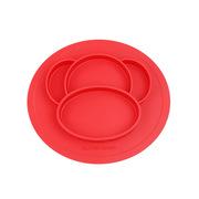 云儿宝贝 YEBB455220 BELOVED硅胶餐盘 小猴款 红色